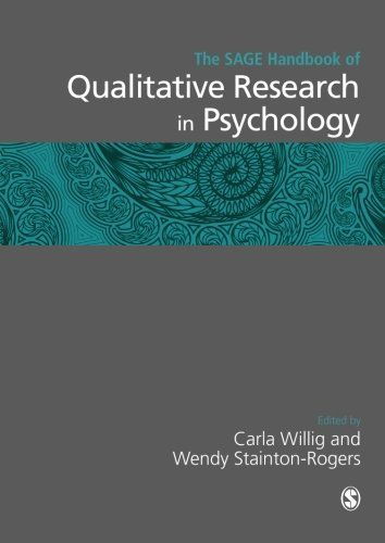 The SAGE Handbook Of Qualitative Research In Psychology Sage Handbooks By Carla Willig