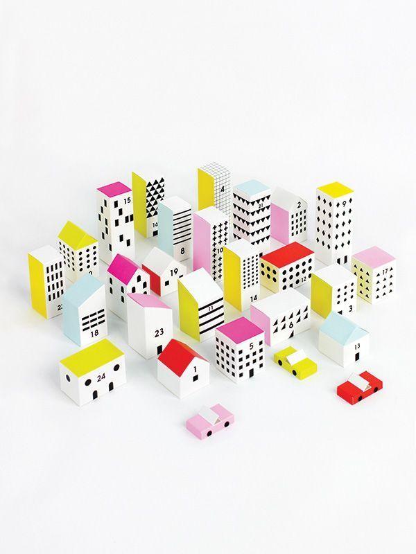 Paper City Advent Calendar | http://moonpicnic.com x Mr P