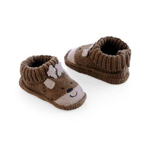 Details about new carter s holiday reindeer or santa booties shoes