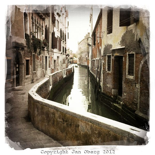 Venice Canal Canvassed iPhone 2012