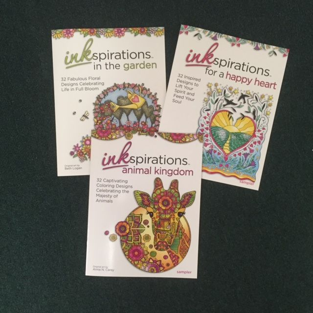 Three New Coloring Books From Inkspirations To Renew And Relax Your Spirit