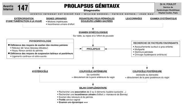 Cours : Tout savoir sur le Prolapsus génitaux ~ Sofiotheque