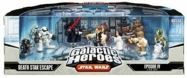 Amazon.com: Star Wars Galactic Heroes Death Star Escape Episode IV :a New Hope Figures: Toys & Games
