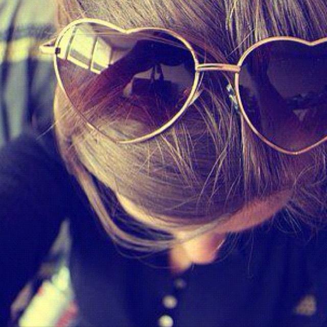 heart shaped sunglasses.