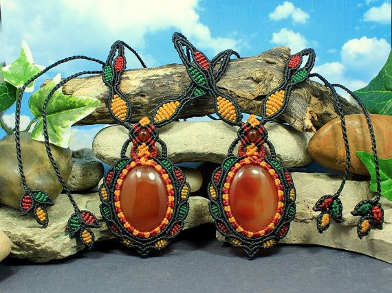 Carnelian twin necklaces of Strength  twin 2 by MundialTreasures
