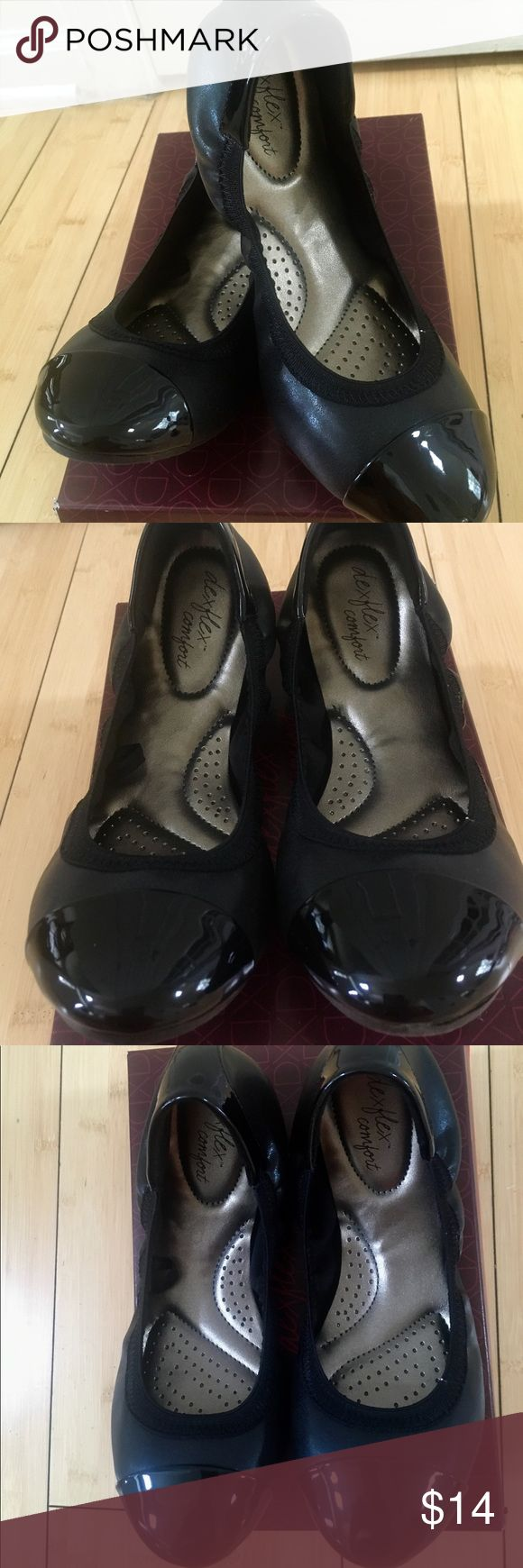 Women's Ballet Flats What women doesn't need a pair of black ballet flats in their wardrobe? These size 6.5 Claires by Deflex Comfort, are super cute and comfortable and go with just about anything. New in box. All man made materials. duflex comfort Shoes Flats & Loafers