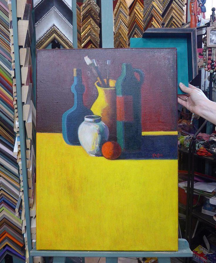 Готовы наши роскошные натюрморты от Гагика Рушаняна и оформление у них будет не менее прекрасным - бархатное паспарту в цвет одной из бутылок и рама, которая добавит глубины и объема ... #современноеискусство #искусство #художник #гагикрушанян