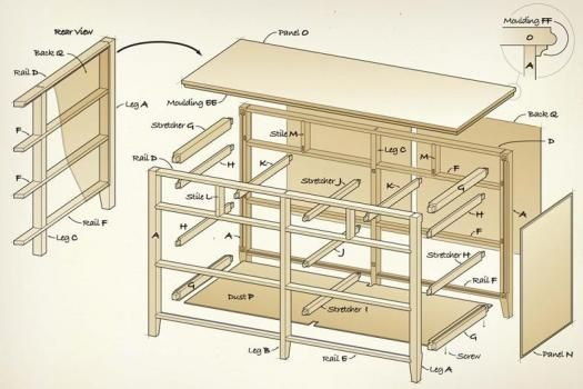 ... plans dressers free woodwork woodwork plans dresser construction