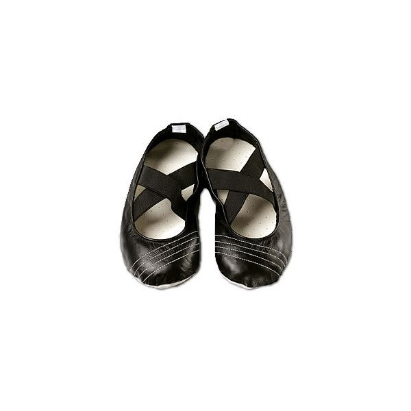 Black yoga shoes - pilates shoes - made in UK found on Polyvore