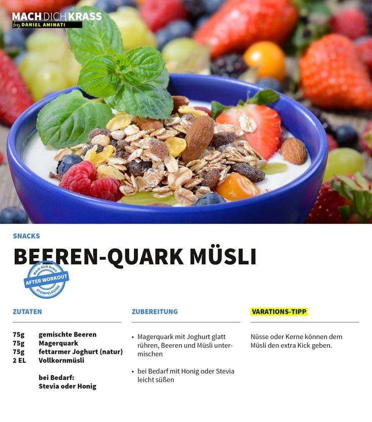 Beeren-Quark Müsli