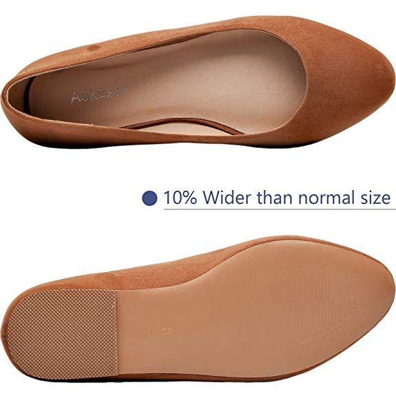 Aukusor Women's Wide Width Flat Shoes