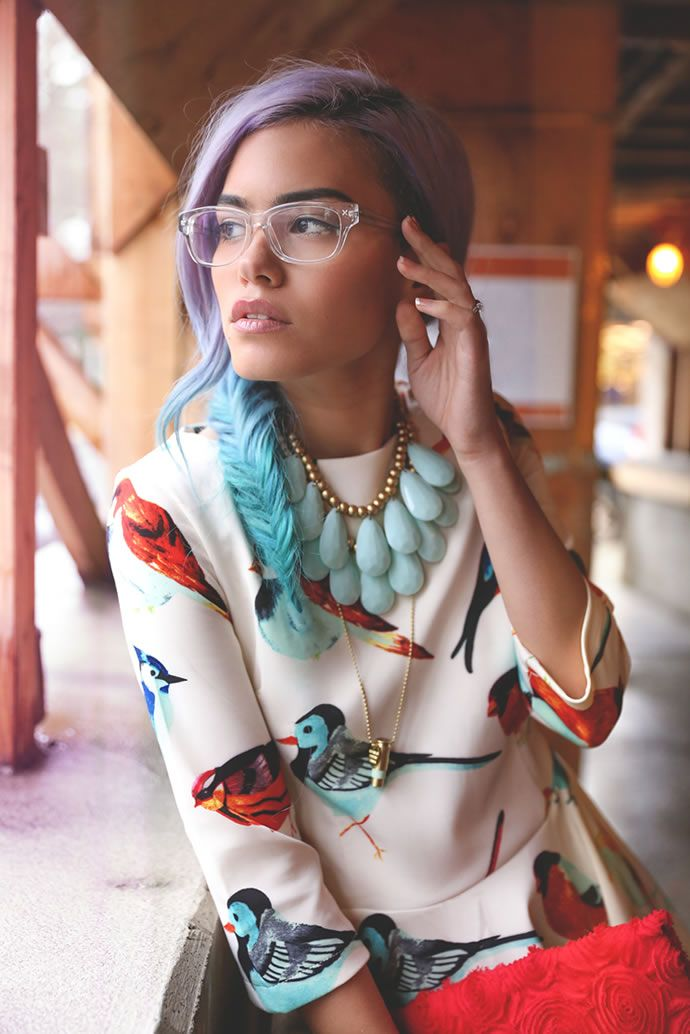 Fashion Blogger | Xander Vintage ft. Clear Derek Cardigan Glasses - theLOOK | Coastal.com - Eyewear + Fashion