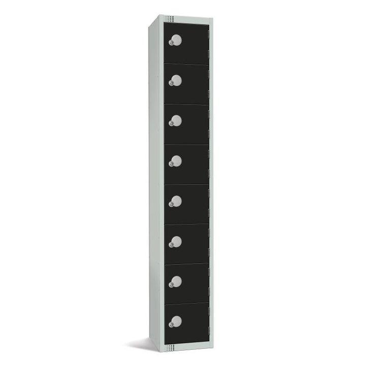 Elite Eight Door Padlock Locker Black - GR690-P