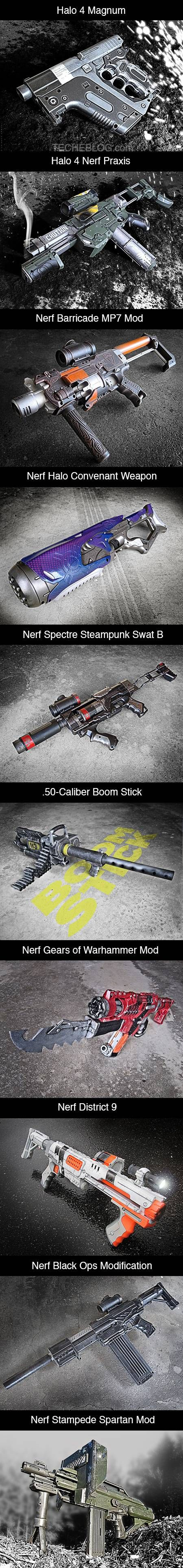 Ten of the coolest custom Nerf guns ever.