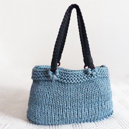 Sac à main en trapilho facile à tricoter