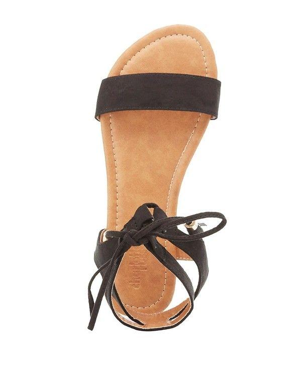 *CHARLOTTE RUSSE || Lace-up ankle sandals | Sandalias con cordones en los tobillos