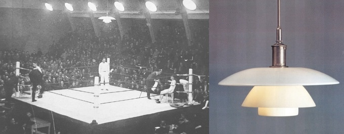 """Opalglaslampen"", Boxing match 1930, Developed 1926"