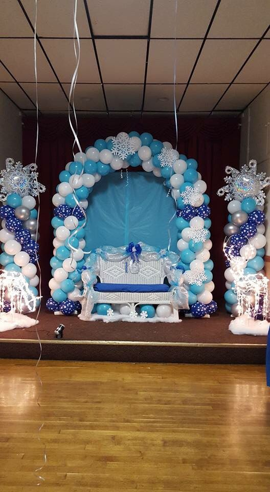 1000 ideas about frozen balloon decorations on pinterest for Balloon arch decoration ideas