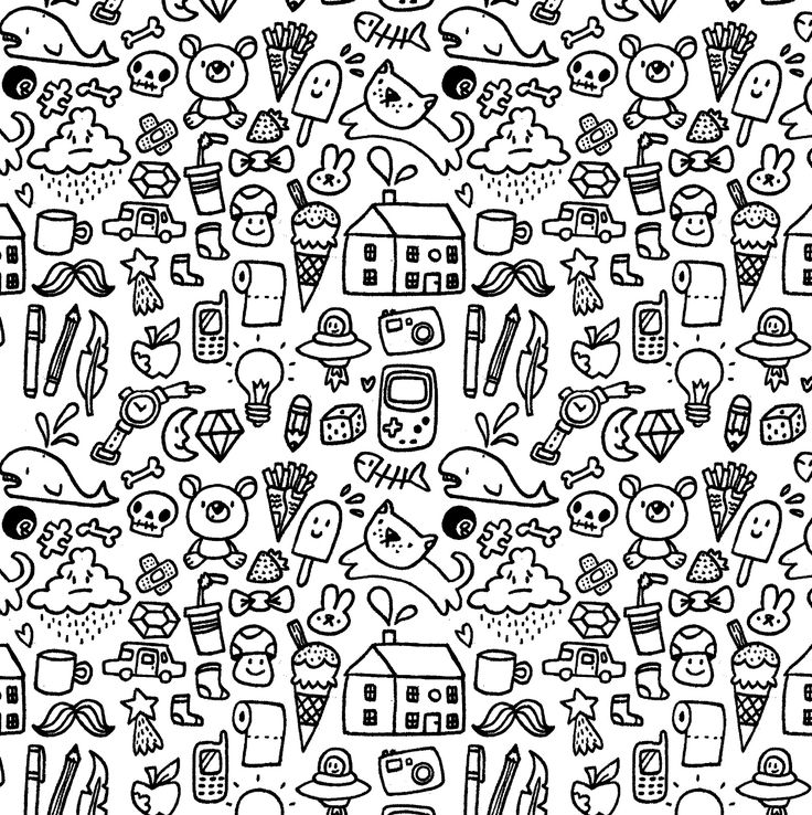 Cute doodle pattern picture hd wallpapers backgrounds for Easy wallpaper ideas