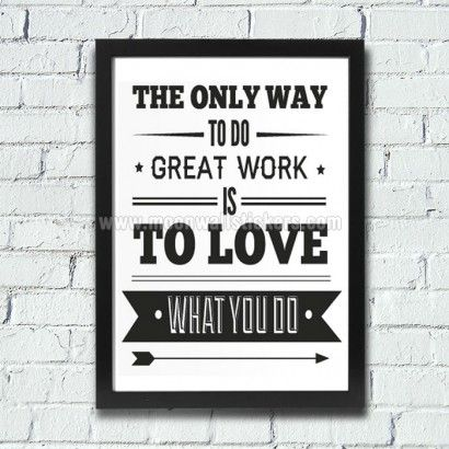 Office Decor Typography Inspirational Poster - Moon Wall Stickers
