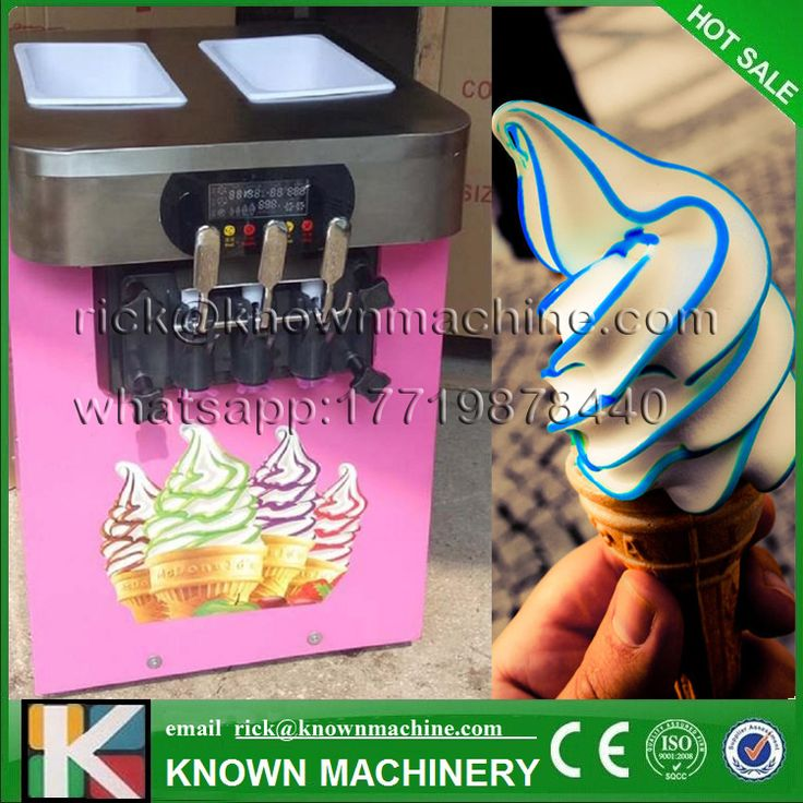 2017 hot sale mini ice cream Maker machine soft serve 3 Flavors R22/R404/R410A refrigerant with CE certified  #Affiliate