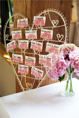 Wire heart table plan