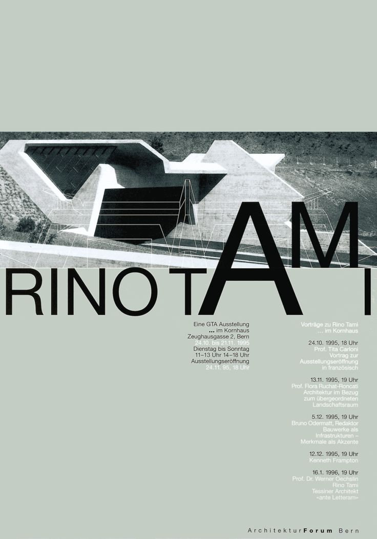 Stephan Bundi – Rino Tami, Architekturforum Bern, 1995