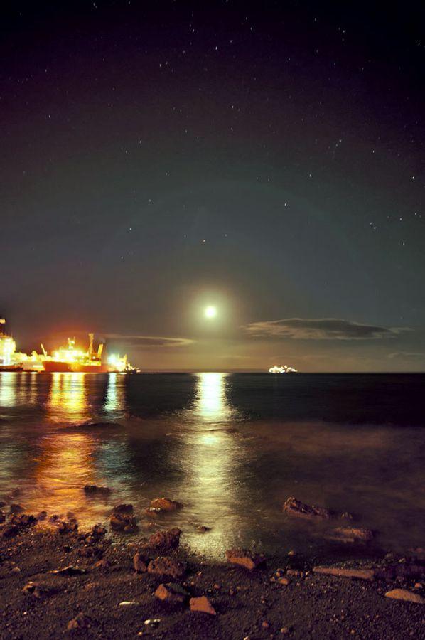 Costanera estrellada. Punta Arenas (Chile). Vía Twitter: @Sergio González <3