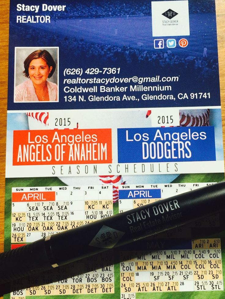 New pens and Los Angeles Dodgers and Angels full season game schedules! On your doorsteps soon....or call me and I will mail it to you!