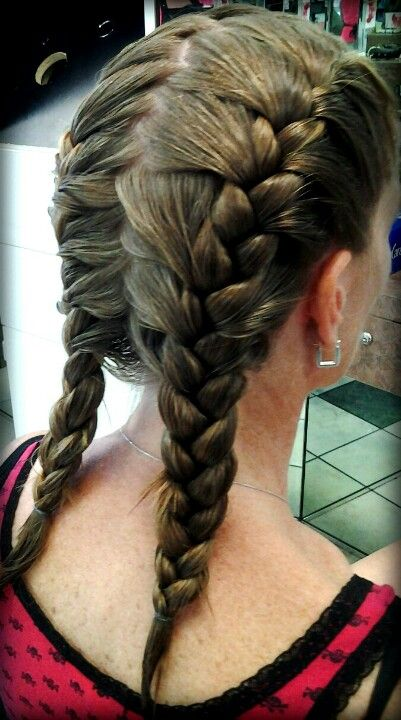 41 best my creations hair phases salon ca images on pinterest french braids with zig zag parting ccuart Images
