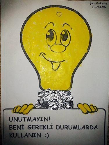 Parmak Baskısı ile Ampul / Enerji Tasarrufu Haftası