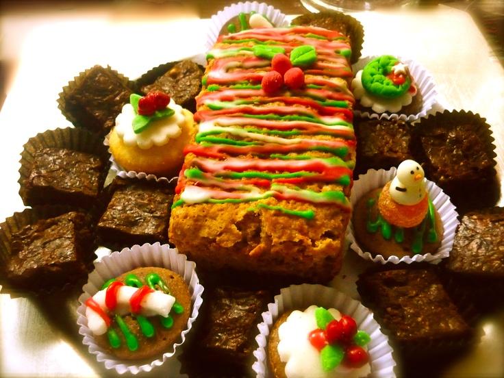 Queque manzana-canela, con brownies y cupcakes!