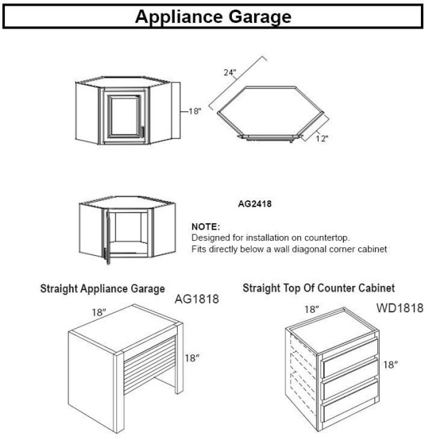 Appliance Garage Counter Top : Best images about appliance garages for kitchen on