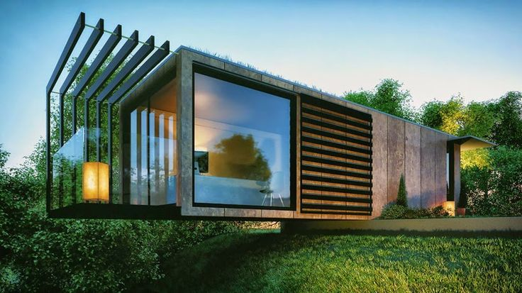 Shedworking: Cantilevered shipping container garden office, Patrick Bradley design.