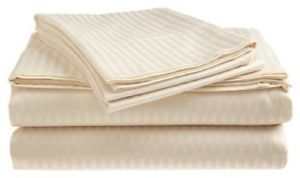 a bed sheet set 100 cotton sateen king size deep pocket fittedflat beige gift