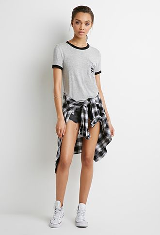 Burgers and Fries Pocket Tee | Forever 21 - $14.90