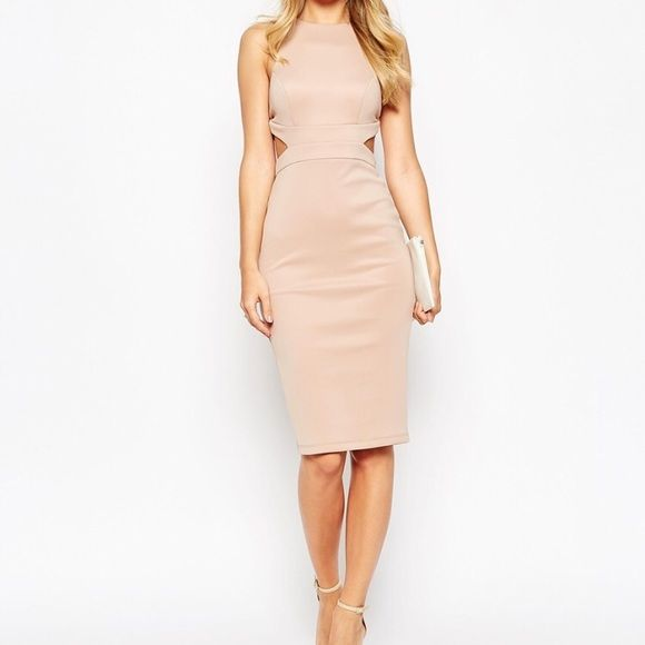 ASOS Petite Cutout Strappy Back Bodycon Dress It's the PERFECT dress to wear for a night out with the girls, bachelorette party, or even a date night. Worn once (to my wedding shower), this dress compliments every single curve  ASOS Dresses Midi