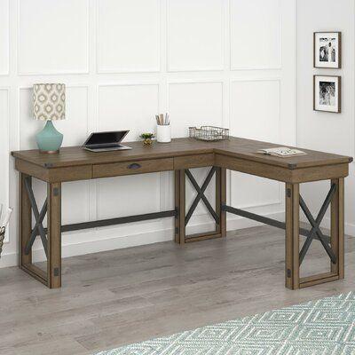 Best Laurel Foundry Modern Farmhouse Gladstone L Shape Desk 640 x 480