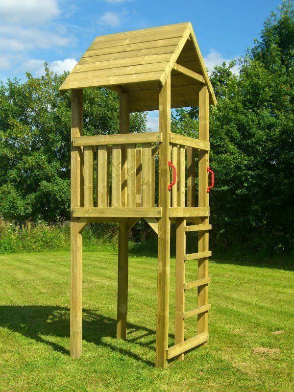 Details zu Spielturm Wapity Kletterturm aus Holz 9x9 mit