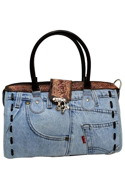 $24.99  Blue Denim Fashion Handbag  DMB007
