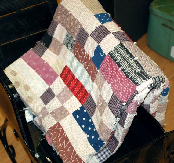 Patchwork Quilt for sale by WashingBabyElephants on Etsy, $160.00