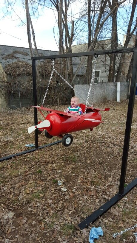 My propane tank airplane i made for my little sweetheart