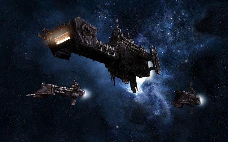 Battlefleet Gothic - Space Marines on the hunt.