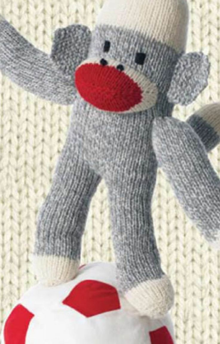 345 best knitted toys images on pinterest beautiful crochet check out this adorable knitted monkey get the free pattern here bankloansurffo Gallery