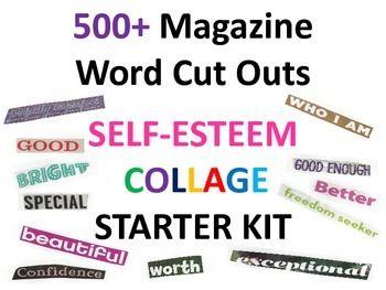 96 best self esteem images on pinterest self esteem psychology magazine word cut outs for self esteem collages starter kit publicscrutiny Choice Image