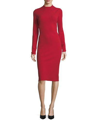 5259619a88 RALPH LAUREN MATILDA HIGH-NECK WOOL CREPE DRESS. #ralphlauren #cloth ...