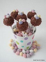 Easter Cake pops . baking .