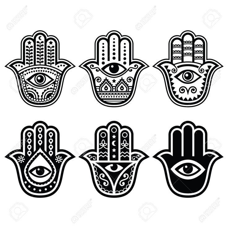 HAMSA / خمسة / חַמְסָה / AMULET / KHAMSAH / HAND OF FATIMA / TATTOOSMore Pins Like This At FOSTERGINGER @ Pinterest