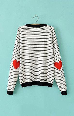 B&W Club Striped Pullover