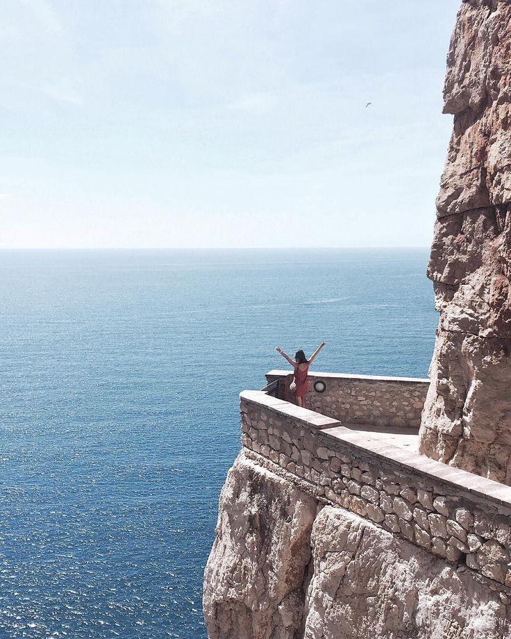 "Sardinia - Italy ""On top of the world 🙌🏼 #sardinia #capocaccia #italy"""
